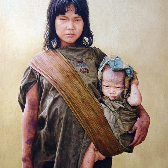 Madre Ashaninca | 40 x 52 cm | Oil on canvas on board | 2002